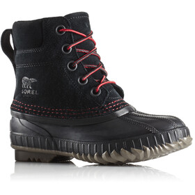 Sorel Cheyanne II Lace Boots Youth Black/Mountain Red